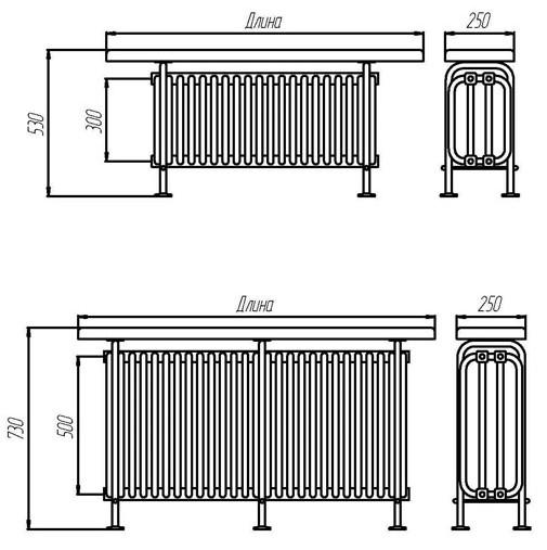Радиатор-скамейка Завалинка РС